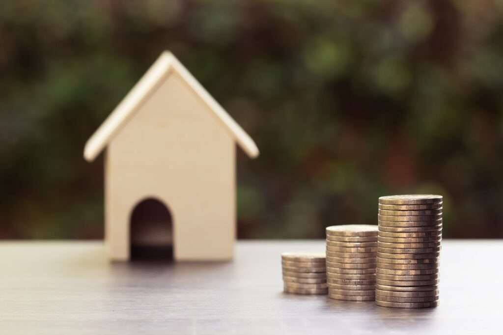 Property investment and home financial mortgage concept
