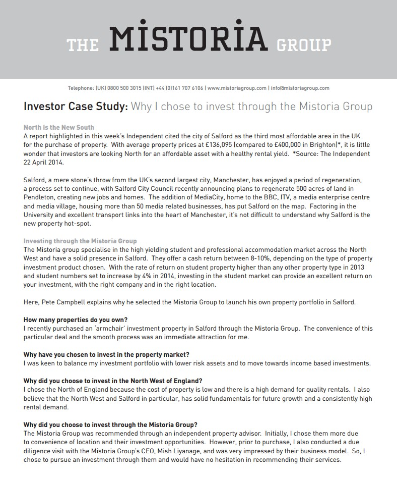 JT Investor Success Story